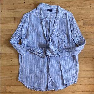 Gap Linen Long Sleeve Shirt Large